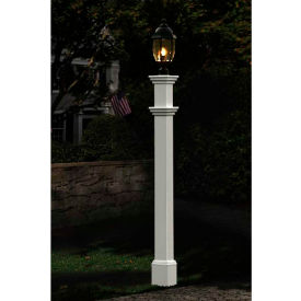 "new england arbors® portsmouth lamp post, 6"" x 6"" x 74"""