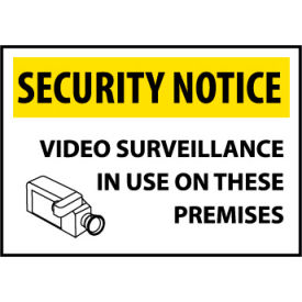 SN20AC Security Notice Aluminum - Video Surveillance In Use On These Premises