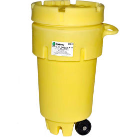 1259-YE ENPAC; 1259-YE Wheeled Poly-Overpack; Salvage Drum - 50 Gallon Capacity