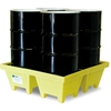 5001-YE-D ENPAC; 5001-YE-D 4-Drum Poly-Spillpallet; with Drain - 6000 Lb. Cap.