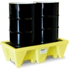5253-YE-D ENPAC; 5253-YE-D 2-Drum Poly-Spillpallet; with Drain - 58 Gallon Cap.