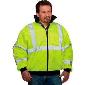 LUX-ETJBJ-YXL Hi-Vis Value Bomber Jacket, Hi-Vis Yellow, XL