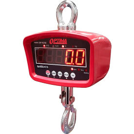 OP-924A-3000LED Optima LED Digital Crane Scale With Remote 3,000lb x 1lb