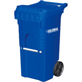 3954444F-BS8 Otto Mobile Trash Container, 35 Gallon Blue - 3954444F-BS8