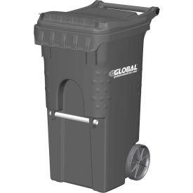 3955050F-BS8 Otto Mobile Trash Container, 35 Gallon Gray - 3955050F-BS8