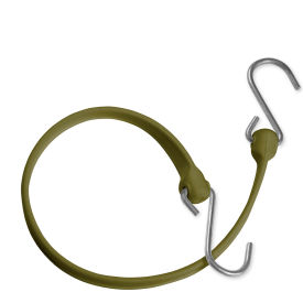 "the better bungee™ bbs36gmg 36"" bungee strap with galvanized triangle s hook - military green The Better Bungee™ BBS36GMG 36"" Bungee Strap with Galvanized Triangle S Hook - Military Green"