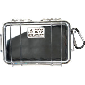 "1040-025-110 Pelican 1040 Watertight Micro Case With Liner 7-1/2"" x 5-1/16"" x 2-1/8"", Black"