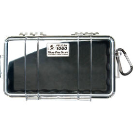 "1060-025-110 Pelican 1060 Watertight Micro Case With Liner 9-3/8"" x 5-9/16"" x 2-5/8"", Black"
