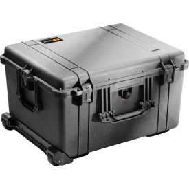 "1620-020-110 Pelican 1620 Watertight Wheeled Large Case With Foam 24-3/4"" x 19-9/16"" x 13-7/8"", Black"