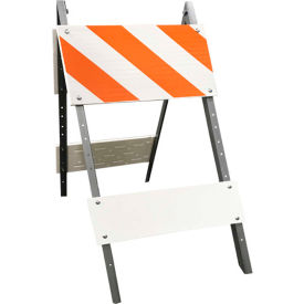 105G-T12EGB6 Galvanized Steel Leg & Plastic Boards Type I Traffic Barricade