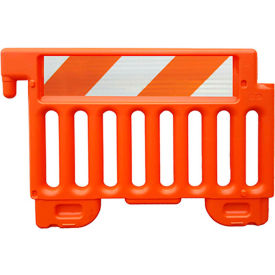 "CSP-SW38-O-EGFRHL Strongwall ADA Compliant Plastic Barricade, Orange, 38""H, Enginer Grade Sheeting"