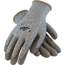 16-530/L PIP G-Tek; CR Polyurethane Salt & Pepper Grip Gloves with HPPE Liner, Gray, L, 1 DZ