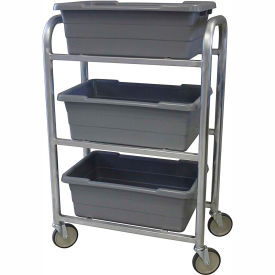"LUGCT3 PVI Aluminum Lug Cart LUGCT3 - 3 Lug Cap. All-Welded 28-1/2""L x 15-1/2""W x 43-3/4""H, Gray"