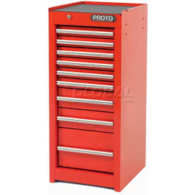 "J541535-9RD-SC Proto J541535-9RD-SC 540S 15""W X 18""D X 35""H 9 Drawer Red Side Cabinet"