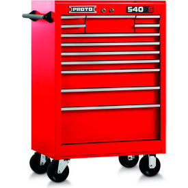 "J542742-12RD Proto 540S 27"" Roller Cabinet - 12 Drawer, Gloss Red"