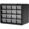 "10116 Akro-Mils Plastic Drawer Parts Cabinet 10116 - 10-1/2""W x 6-3/8""D x 8-1/2""H, Black, 16 Drawers"