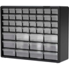 "10144 Akro-Mils Plastic Drawer Parts Cabinet 10144 - 20""W x 6-3/8""D x 15-13/16""H, Black, 44 Drawers"
