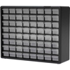"10164 Akro-Mils Plastic Drawer Parts Cabinet 10164 - 20""W x 6-3/8""D x 15-13/16""H, Black, 64 Drawers"
