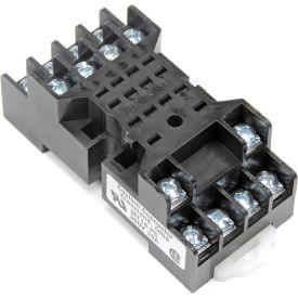 relay and control mt14-pc relay socket, 300v @ 10 amps, din rail mountable