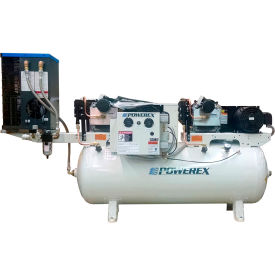 powerex std050334 10 hp oil-less scroll comp. 80 gal horiz. 116 psi 3 phase 230v refrigerated dryer Powerex STD050334 10 HP Oil-less Scroll Comp. 80 Gal Horiz. 116 PSI 3 Phase 230V Refrigerated Dryer