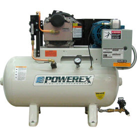 powerex sts050242 5 hp oil-less scroll compressor 60 gallon horizontal 116 psi 3 phase 460v Powerex STS050242 5 HP Oil-less Scroll Compressor 60 Gallon Horizontal 116 PSI 3 Phase 460V