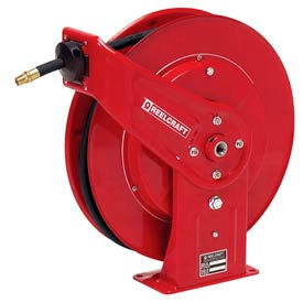"PW7650 OHP Reelcraft PW7650 OHP 3/8""x50 4500 PSI Spring Retractable Pressure Wash Hose Reel"