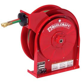 "TW5425 OLP Reelcraft TW5425 OLP 1/4""x 25 200 PSI Spring Retractable Welding Gas Hose Reel"