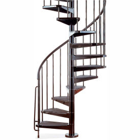 "arke civik spiral staircase kit, (99-3/16"" to 120-1/16""), 47"" dia., black Arke Civik Spiral Staircase Kit, (99-3/16"" to 120-1/16""), 47"" Dia., Black"
