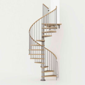 "arke phoenix spiral staircase kit, (99-5/8"" to 120-1/2""), 63"" dia., gray Arke Phoenix Spiral Staircase Kit, (99-5/8"" to 120-1/2""), 63"" Dia., Gray"