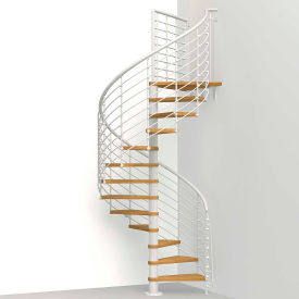 "arke oak 70.xtra spiral staircase kit, (99-3/16"" to 122-7/16""), 51"" dia., white Arke Oak 70.Xtra Spiral Staircase Kit, (99-3/16"" to 122-7/16""), 51"" Dia., White"