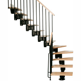 "arke kompact modular staircase kit, (88-5/8"" to 119-1/4""), *l* 29"" tread, black Arke Kompact Modular Staircase Kit, (88-5/8"" to 119-1/4""), *L* 29"" Tread, Black"