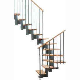 "arke kompact modular staircase kit, (88-5/8"" to 119-1/4""), *u* 29"" tread, gray Arke Kompact Modular Staircase Kit, (88-5/8"" to 119-1/4""), *U* 29"" Tread, Gray"