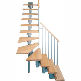 "arke kompact modular staircase kit, (88-5/8"" to 119-1/4""), *l* 35"" tread, gray Arke Kompact Modular Staircase Kit, (88-5/8"" to 119-1/4""), *L* 35"" Tread, Gray"