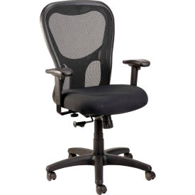 MM9500-BLKM Eurotech Apollo Mesh Managers Chair with Arms - Fabric - Black