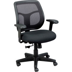 MT9400-BK Eurotech Apollo Mesh Task Chair with Arms - Fabric - Black