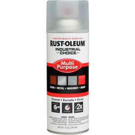 1610830 Rust-Oleum Industrial 1600 System Gen Purpose Enamel Aerosol, Crystal Clear, 12 oz. - 1610830