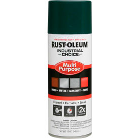 1638830 Rust-Oleum Industrial 1600 System General Purpose Enamel Aerosol, Hunter Green, 12 oz. - 1638830