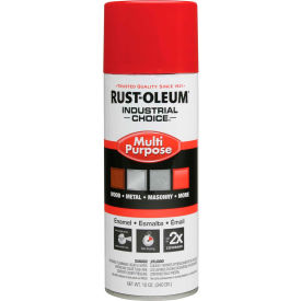 1660830 Rust-Oleum Industrial 1600 System General Purpose Enamel Aerosol, Safety Red, 12 oz. - 1660830