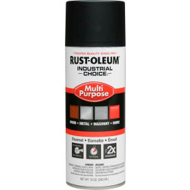 1678830 Rust-Oleum Industrial 1600 System General Purpose Enamel Aerosol, SemiFlat Black, 12 oz. - 1678830