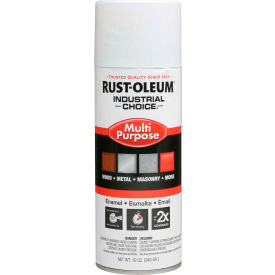 1692830 Rust-Oleum Industrial 1600 System General Purpose Enamel Aerosol, Glossy White, 12 oz. - 1692830