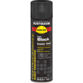 V2178838 Rust-Oleum High Performance V2100 Rust Preventive Enamel Aerosol, Flat Black, 15 oz. - V2178838