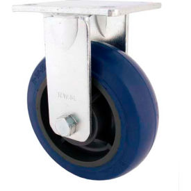 "rwm casters 4"" rubber on iron wheel rigid caster with optional mounting plate - 46-rir-0420-r-41rt RWM Casters 4"" Rubber on Iron Wheel Rigid Caster with Optional Mounting Plate - 46-RIR-0420-R-41RT"