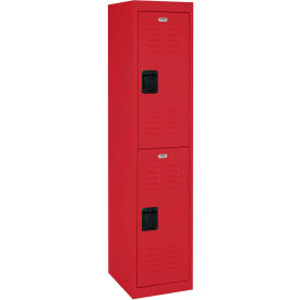 "LF2B151866-01 Sandusky Welded Steel Color Lockers LF2B151866-01 - 15""W x 18""D x 66""H Red"