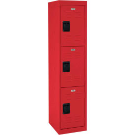 "LF3B151866-01 Sandusky Welded Steel Color Lockers LF3B151866-01 - 15""W x 18""D x 66""H Red"