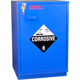 "22x2.5 liter, under-the-counter corrosive cabinet, partially lined, right hinge, 23"" x 22"" x 35-1/2"""