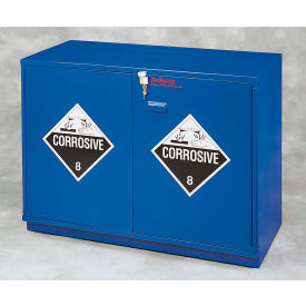 "28x2.5 liter, under-the-counter corrosive cabinet, partially lined, 29""w x 22""d x 35-1/2""h"