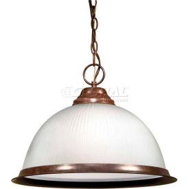 "nuvo 76/690, 1 light-pendant, frosted prismatic, old bronze, 15""w x 10.5""h"