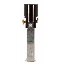 satco 80-1088 phenolic candelabra socket with paper liner  3-in. screw terminals-double leg