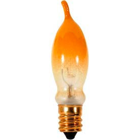 satco s3243 7 1/2ca5/fy 7.5w incandescent w/ candelabra base bulb
