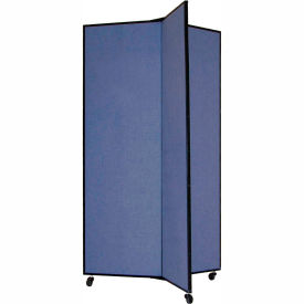 "DS603-DB 3 Panel Display Tower, 59""H, Fabric - Lake"